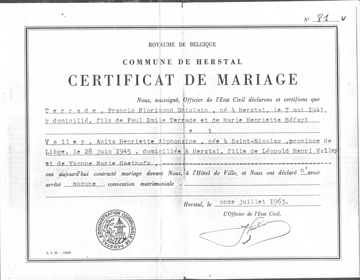 Liste des sources - Acte de propriete belgique ...